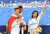 Pamatykite: mažasis C.Ronaldo nustelbė tėvą įspūdingu smūgiu