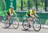 Abi lietuvės ketvirtąjį dviračių lenktynių Italijoje etapą baigė kartu su pagrindine grupe (+ kiti rezultatai)