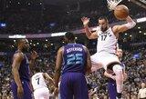 """Prie """"Raptors"""" pergalės J.Valančiūnas prisidėjo dvigubu dubliu ir galingais dėjimais"""