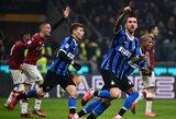 """Dviejų įvarčių deficitą panaikinęs """"Inter"""" triumfavo Milano derbyje"""