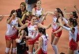 Olimpines moterų tinklinio atrankos varžybas Turkijoje laimėjo šeimininkės