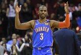 """Įspūdingai rungtynes užbaigusi """"Thunder"""" pratęsė """"Rockets"""" nesėkmių seriją"""
