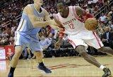 """Pagaliau aikštelėje: D.Motiejūnas žaidė 16 minučių, pelnė 12 taškų, o """"Rockets"""" šventė pergalę"""