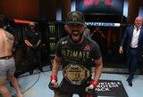 Varžovo kaklą pirmame raunde surakinęs D.Figueiredo pirmą kartą apgynė UFC čempiono titulą