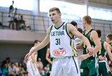 Devyniolikmečiai įveikė metais vyresnius Lietuvos krepšininkus