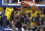 """""""Raptors"""" patiesė """"Warriors"""" su įspūdingai žaidusiu S.Curry"""