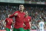 """Tris įvarčius į Liuksemburgo vartus į mušęs C.Ronaldo: """"Tai užkoduota mano DNR"""""""