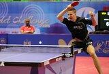 M.Stankevičius vedė Lietuvos vyrų stalo teniso rinktinę į pergalę prieš Alžyrą