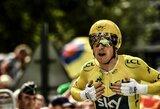 """Dukart olimpinis čempionas G.Thomasas pirmą kartą laimės """"Tour de France"""" lenktynes"""