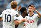 """Anglijoje – H.Kane'o pelnytas dublis ir triuškinama """"Tottenham"""" pergalė prieš """"Leicester City"""""""