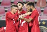 Turkijos rinktinė per pridėtą rungtynių laiką išplėšė lygiąsias su vokiečiais