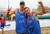 Puikus Lietuvos paplūdimio tinklininkų pasirodymas Vengrijoje vainikuotas sidabro medaliais