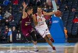 M.Kalnietis buvo per plauką nuo rekordo, M.Kuzminskas įmetė 19 taškų