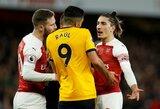"""""""Arsenal"""" pačioje rungtynių pabaigoje išvengė pralaimėjimo prieš """"Wolverhampton"""""""