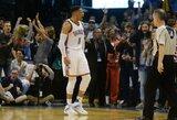 """Ketvirtas R.Westbrooko trigubas dublis paeiliui ir """"Thunder"""" tritaškių rekordas"""