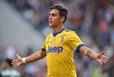 """""""Tottenham"""" gali antrą kartą šią vasarą pagerinti klubo rekordą: nusižiūrėjo """"Juventus"""" žvaigždę P.Dybalą"""
