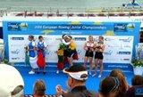 U.Juzėnaitė ir D.Rimkutė tapo Europos jaunių irklavimo čempionėmis!