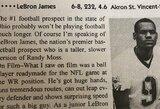 L.Jamesas atskleidė, kodėl mokykloje jis nustojo žaisti amerikietišką futbolą
