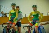 A.Savičiūtė ir V.Šumskytė pasaulio jaunimo dviračių treko čempionate – 5-os