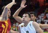 Nervų karu virtusiose rungtynėse lietuviai atsirevanšavo Makedonijos rinktinei