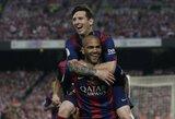 """D.Alvesas: """"Patariau L.Messi nepalikti Barselonos"""""""