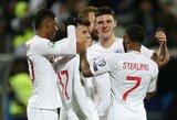 Čekija įšoko į Europos čempionato traukinį, Anglija sutriuškino Kosovą