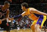 """Ch.Bosho ir L.Jameso vedami NBA čempionai įveikė """"Lakers"""""""