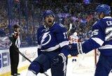 """Grubi """"Red Wings"""" vartininko klaida padovanojo """"Lightning"""" kelialapį į NHL Vakarų konferencijos pusfinalį"""