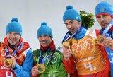 Rusija greičiausiai praras pirmą vietą Sočio olimpiados medalių įskaitoje – dėl dopingo vartojimo pagautas dar vienas čempionas