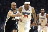 """""""Clippers"""" panaikino triuškinamą deficitą ir patiesė """"Spurs"""", kuriai nutrūko fenomenali serija"""