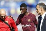 "O.Dembele sugrįžo į ""Barcelona"" treniruotes"