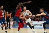N.De Colo vedama CSKA atsidūrė per žingsnį nuo Eurolygos pusfinalio