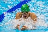 Be lyderio likusi Lietuvos plaukimo rinktinė Europos čempionate aplenkė šešias komandas