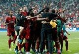 Pamatykite: po triumfo UEFA Supertaurėje emocijų nesuvaldęs J.Kloppas atliko pergalingą bėgimą