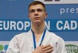 R.Nenartavičius – Europos jaunimo dziudo taurės etapo Prahoje vicečempionas