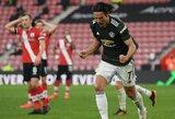 """2 įvarčių deficitą panaikinęs """"Man Utd"""" 92-ąją minutę išplėšė pergalę prieš """"Southampton"""""""