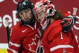 Pirmoji Kanados rinktinės pergalė pasaulio moterų ledo ritulio čempionate