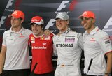 Su M.Schumacheriu ir L.Hamiltonu lenktyniavęs F.Alonso įvardijo geriausią visų laikų pilotą