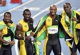 Trys iš trijų: U.Boltas su Jamaikos rinktine triumfavo 4x100 metrų estafetėje