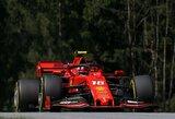 """Dviprasmiška """"Ferrari"""" kvalifikacija: C.Leclercas iškovojo """"pole"""" poziciją, S.Vettelis patyrė gedimą"""