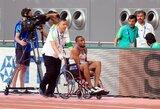 Dabartiniam Europos čempionui bėgimas Dohoje baigėsi vežimėlyje, traumą patyrė ir pasaulio čempionė
