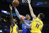 R.Westbrookas surengė taškų šou, K.Durantas buvo nušvilpiamas
