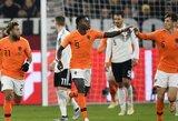 Tautų lyga: Du įvarčius per penkias minutes pelniusi Olandija išplėšė lygiąsias su vokiečiais ir tapo grupės nugalėtoja