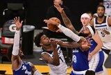 """""""Lakers"""" sutriuškino """"Timberwolves"""", pirmasis šaukimas prametė 15 metimų"""