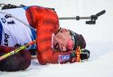 Pasaulio biatlono čempionate geriausiai tarp lietuvių sekėsi K.Dombrovskiui