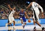 """""""Spurs"""" sustabdė """"Clippers"""" žvaigždes ir nutraukė varžovų pergalių seriją"""