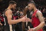 """Pusšimčio K.Duranto taškų neužteko – triumfavo D.Lillardo vedama """"Trail Blazers"""""""