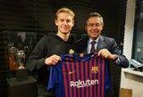 """F.De Jongas atskleidė komandą, kurioje norėjo žaisti prieš persikeliant į """"Barcelona"""""""
