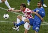 Italijos rinktinė nesugebėjo išsaugoti turimos persvaros ir rungtynes su Kroatija baigė lygiosiomis
