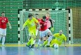 """Trečiajame """"Futsal A lygos"""" ture – pirmosios pergalės ir išpuolis prieš teisėją"""